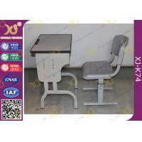 Buy cheap Durable School Desk And Chair for Kids Study , Plywood Desk Top With PVC Edge from wholesalers