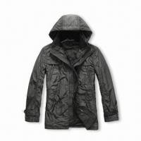 Buy cheap Men's Hooded Casual Jacket, Made of Wool, Customized Styles are Accepted from wholesalers