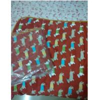 Buy cheap 100%coral fleece blanket dachshund pattern for children and office Lady carpet L00041 from wholesalers