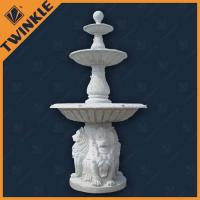 Buy cheap White Marble Natural Stone Water Fountains Outdoor With Lion Statue from wholesalers