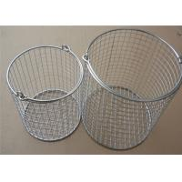 Buy cheap Round Stainless Steel Wire Mesh Baskets/ 304 316 Wire Mesh Filter Basket from wholesalers