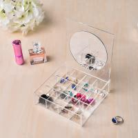 Buy cheap Clear Acrylic Jewelry Display Jewelry Display Set Storage With Mirror OEM Service product