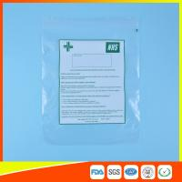 Buy cheap Hospital Zip Up Plastic Sealable Bags / Small Resealable Plastic Bags Transparent from wholesalers