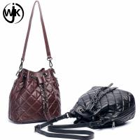 Buy cheap New design hot sale popular ladies leather bucket bag custom leather strap for bag for ladies tote leather handbag from wholesalers