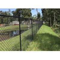 China Galvanized / Pvc Coated Garden Chain Link Fence Fabric With Diamond Hole on sale
