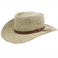 Buy cheap Seagrass Straw Gambler crown hat brim Leather band,F-W095 from wholesalers
