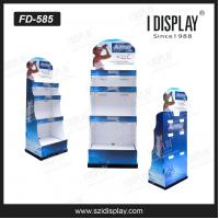 Buy cheap FD-585 high quality cardboard supermakert flooring display stand for water from wholesalers