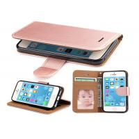 Buy cheap Rose Gold Leather Wallet Case For iPhone 5 5S SE , iphone Leather Case Luxury from wholesalers