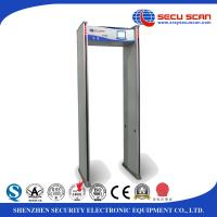 Buy cheap White 8 16 24 Detecting Multi - Zone Walk Through Metal Detector Security Door from wholesalers