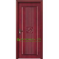 Buy cheap Simple Design Residential Project Timber Veneer Single Door,Wood exterior doors With Glass from wholesalers