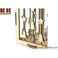 Buy cheap centerpiece wood candle holder for home and restaurant decoration from wholesalers
