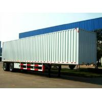 Buy cheap Common mechanical Suspension  Fuwa axles Box Semi Trailer for cargo transportation product