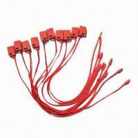 Buy cheap Red Plastic Locks, Used with Hang Tag and Garment Accessories, in Many Colors, Measuring 0.8 x 2cm product