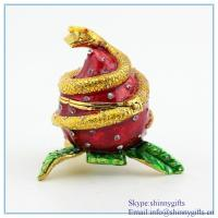 Buy cheap Pewter Snake Rounding Egg Statue Figurine Box SCJ1006 from wholesalers