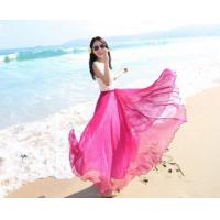 Buy cheap Multiply color Women Girls Chiffon pleated Maxi Long Skirt from wholesalers