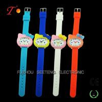 Buy cheap Colorful and cute hello kitty design for  children watch with all safety silicone material from wholesalers