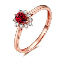 Buy cheap Ruby Stone Wedding Ring , Genuine Ruby Ring With Diamonds Around It  from wholesalers