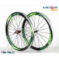 Buy cheap 50mm Clincher Bicycle Aluminum Road Bike Wheels With Mrcarbon Logo from wholesalers