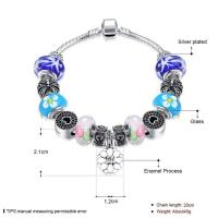 Buy cheap SJ New Arrival Jewelry SJPDRH051 Sakura Pendant Love Heart Round Colorful Charming Glaze Beads Bracelet as Gift for Girl from wholesalers