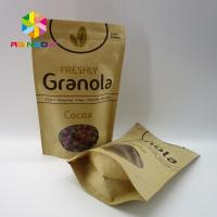 Buy cheap High Temperature Stand Up Pouch Pressure Resistance For Coffee Beans The Kraft Paper Bag With Clear Window from wholesalers