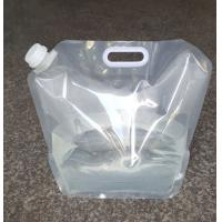Buy cheap 5L 10L Folding Stand up Plastic Spout Drinking Water Container Bags with Portable Handle from wholesalers