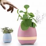 Buy cheap smart flower pot Bluetooth speaker smart flower pot mini speaker music flower pot for Office from wholesalers