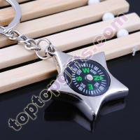 China star compass keychain custom promotional key ring on sale