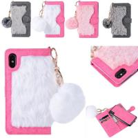 Buy cheap Hot sale in Amazon Fur  Detachable TPU Leather Wallets Phone Case Cover for iPhone X from wholesalers