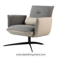 Buy cheap Stitched Lounge Black Iron 44CM 78cm Metal And Fabric Dining Chairs from wholesalers
