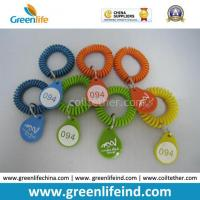 Buy cheap Colorful Plastic Spiral Wrist Coil Number Key Tag from wholesalers