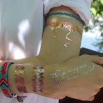 Buy cheap OEM Fake Flash Gold Foil Body Hand Sticker Custom Metallic Temporary Tattoo from wholesalers