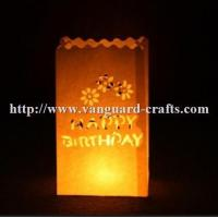 Buy cheap hot sale custom made candle packaging paper bag fashion wax candle bags from wholesalers