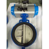 Buy cheap DN65 Soft Seal Centerline Butterfly Valves Wafer Type With Pneumatic Actuator from wholesalers