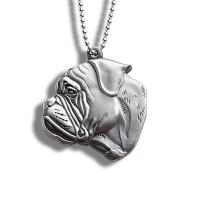 Buy cheap Anti Loss Metal Dog Id Tags , Necklace Relief Puppy Name Tags 37*40mm from wholesalers