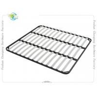 China Welded Metal Slatted Bed Base Framework , Basic Wood Slat Bed Frame on sale