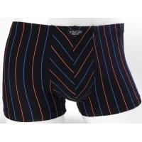 custom printed Short Mens Trunk Underwear Stripe Pattern Dark Color