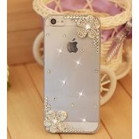 Buy cheap Iphone 5 6 Handmade Clear Bling Flower Crystal Rhinestone Diamond Case Cover  Candymaker Stylus from wholesalers