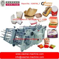 Quality carton erecting machine for Hamburger box,pizza box,food box for sale