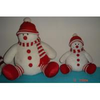 Buy cheap Custom Design Plush Snowman in Red Hat of Personalised Christmas Gifts for Children from wholesalers