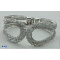 Buy cheap OEM Copper Beaded Metal Bangles with Net Chain with Bronze OX Color from wholesalers