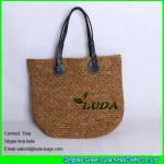Buy cheap LUDA floral handbags brown women crochet raffia beach tote bag from wholesalers