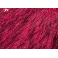 Buy cheap Tip Dyeing Plush Faux Fur Fabric Red Acrylic For Garments Auto Upholstery from wholesalers