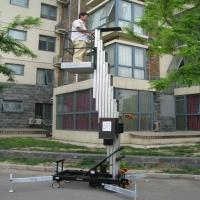 Buy cheap Outdoor safety telescopic work platform single mast climbing work platform from wholesalers