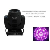 Buy cheap 7r 230W Beam Moving Head Light , Double Prism 2 Gobo Wheels Movable Disco Light from wholesalers
