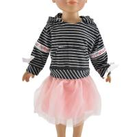 Buy cheap 2019 princess 2 pcs suit kids dress for 18 inch american girl doll clothes from wholesalers