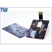 Buy cheap ABS Swivel Credit Card 32GB Pen Drives Pocket Carry with Name Cards from wholesalers