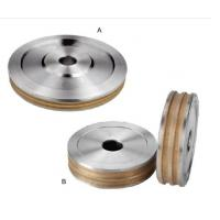 Buy cheap Customized Metal Bonded Diamond Grinding Wheels , Groove Flat Grinding Wheel Medium Hardness from wholesalers