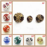 Buy cheap Crystal Jewelry Accessories Shamballa Rhinestone Crystal Pave Ball Beads For Decoration from wholesalers
