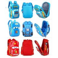 Buy cheap Fashion Disney Cars Racers 3D Red Lightning McQueen Kid's School Bag Primary Backpack from wholesalers