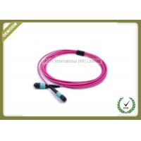 Buy cheap MTP TO MTP OM4 12Core Fiber Trunk Cable Patch Cord Violet color from wholesalers